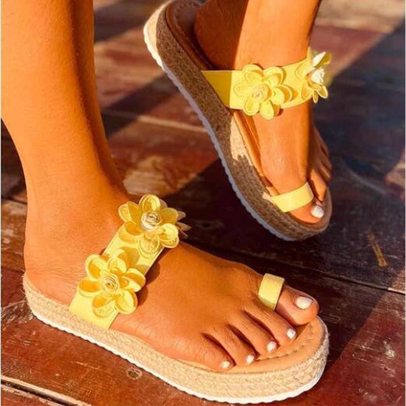 MCCKLE/женские летние босоножки; Женская обувь с открытым носком без застежки; Обувь на платформе с цветочным узором; Женские модные удобные повседневные сандалии