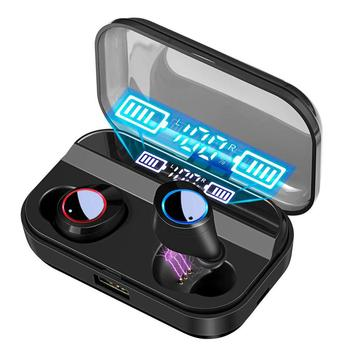 Bluetooth Earbuds TWS Wireless Bluetooth 5.0 Earphones with Microphone 5D Stereo Sound in-Ear Headsets For Sports Running