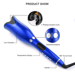 Image 2 - מקצועי סלון רב פונקצית LCD מסך קרלינג ברזל שיער Curler סטיילינג כלי רולים להסס תלתל אוטומטי מתולתל ברזל 20 #82