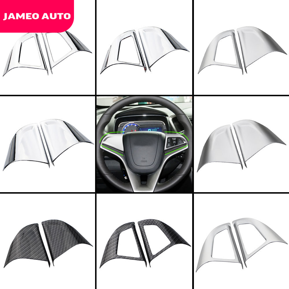Car Chrome Steering Wheel Protective Cover Trim Sticker Fit For Chevrolet Cruze Sedan Hatchback 2009 - 2015 Trax Accessories