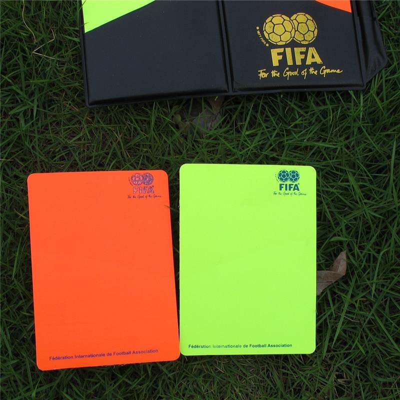 Jump граммы ПВХ красная карта желтая пластина футбол рефери поставки с кожаный чехол карандаш красная желтая пластина тетрадь