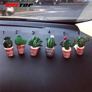 Image 5 - Sukkulenten Kaktus Auto Dashboard Dekoration Air Outlet Parfüm Clip Ornamente Auto Zubehör Innen Hängenden Anhänger