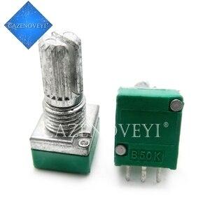 5pcs/lot RK097N 1K 5K 10K 20K 50K 100K 500K 250K B5K with a switch audio 3pin shaft 15mm amplifier sealing potentiometer