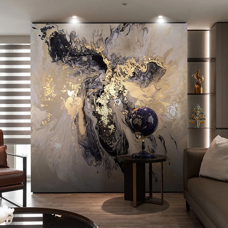 Custom 3D Wall Mural Wallpaper Abstract Golden Landscape Art Wall Painting Living Room Bedroom Background Photo Wall Paper Decor