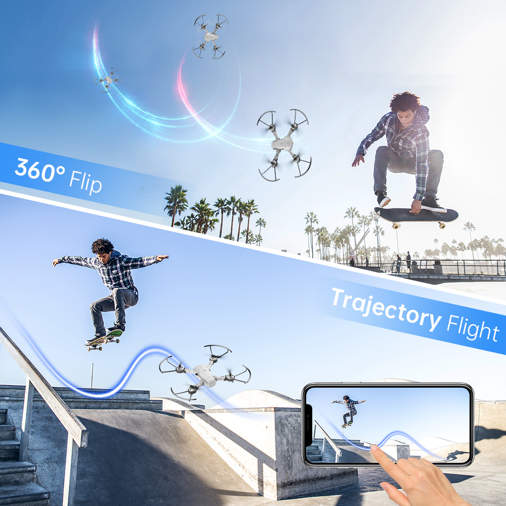 lowest price Quadcopter SNAPTAIN A10  Mini drone Foldable Drone 720P HD Camera FPV WiFi RC Voice Control Gesture Control3DFlipsChristmas gift