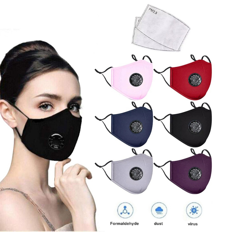 Breathing Mask With Valve Element Cotton Anti Haze Anti-dust Mask Activated Carbon Filter Respirator Mouth-muffle Mask