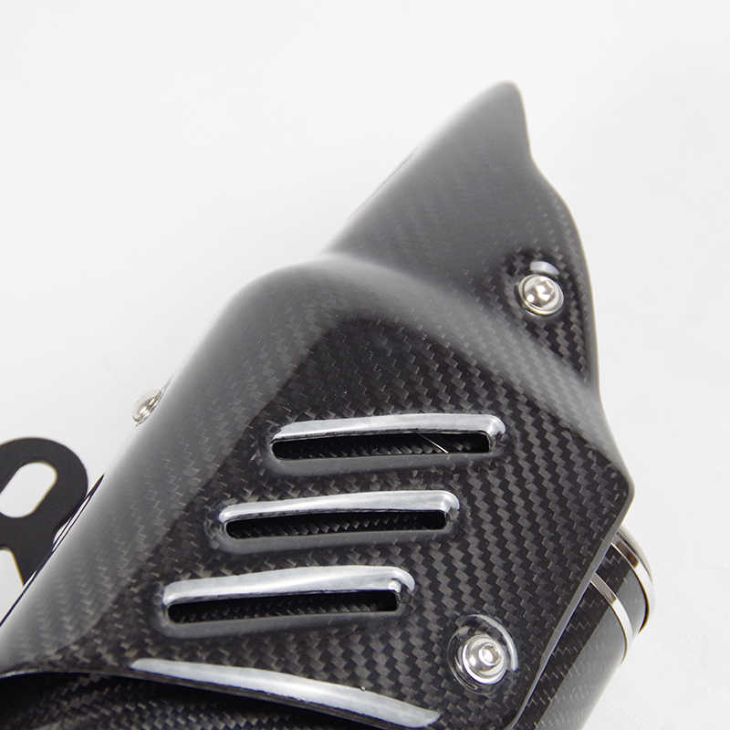 العالمي moto rcycle العادم الخمار الكربون الألياف الحرارة درع ديسيبل القاتل الهروب moto لياماها R1 r3 r6 ninja400 z250 tmax 530