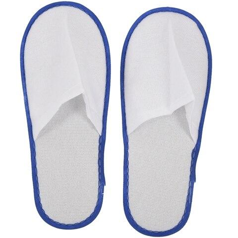 20 pares de towelling branco hotel chinelos descartaveis terry spa sapatos de hospedes