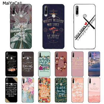MaiYaCa Bible Quotes verse Jesus Christian bible TPU Soft Phone Cover for huawei Y 7S 7 PRO 9 6 Y5 PRIME 2018 Y7 9 5 6 PRO 2019 image