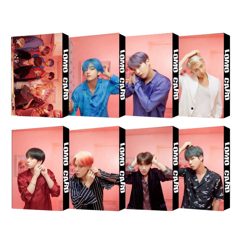 Hot KPOP LOMO Card Bangtan Boys Album MAP OF THE SOUL PERSONA Collection Photocard Self Made Paper Cards