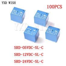 100 stücke SRD-05VDC-SL-C SRD-12VDC-SL-C SRD-24VDC-SL-C SRD-48VDC-SL-C Relais 5 Pin SRD-05VDC/12VDC/ 24VDC/48VDC-SL-C power Relais