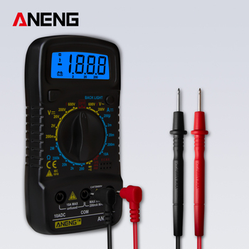 ANENG AN830L Handheld Digital Multimeter LCD Backlight Portable AC/DC Ammeter Voltmeter Ohm Voltage Tester Meter Multimetro dt 17n handheld digital multimeter lcd backlight manual portable auto range ad dc voltmeter ammeter ohm voltage test multimeter