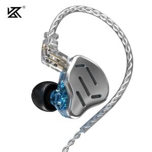 Image 4 - KZ ZAX Headset 16 Units HIFI Bass In Ear Monitor Hybrid technology Earphones Noise Cancelling Earbuds 7BA+1DD Sport Headphones