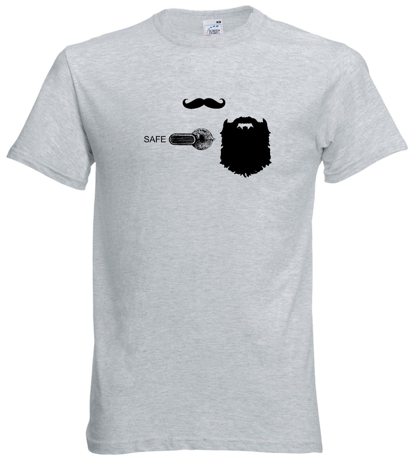 2019 Summer Hot Sale Men T-<font><b>shirt</b></font> <font><b>AR</b></font> 15 Full Beard Safety Selector T <font><b>Shirt</b></font> Rifle M4 AR15 image