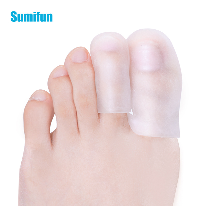 2Pcs Big Middle Toe Protectors Silicone Gel Cover Preventing Blisters Corns Nail Tools Injured Ingrown Hammer Pain Care C1641