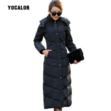 Womens 90% White Duck Down Parka Down Female Coat Women Winter Slim Long Outwear Hood Warm Fashion High Quality Plus Size Coats стоимость