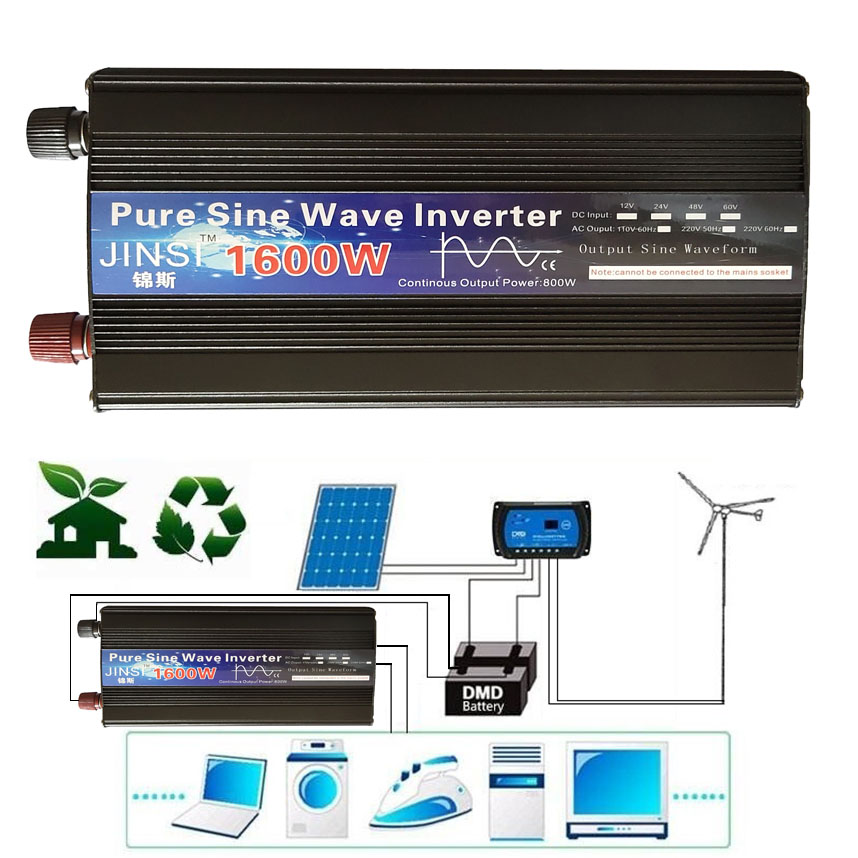 Pure Sine Wave Inverter DC 12V 24V to AC 220V 110V 60Hz 500W 1000W 2000W  Power Converter Booster For Car Household DIY