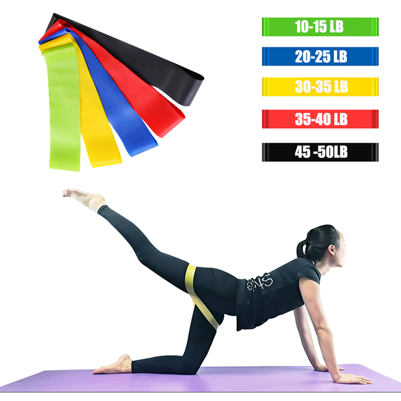 Pilates Elastic Fitness Loop Yoga Resistance Bands Stretching Workout Natural Latex Home Power Tension Training Gym Sports