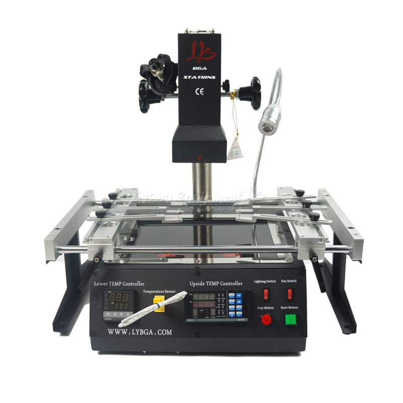 LY <font><b>IR6500</b></font> V.2 <font><b>BGA</b></font> repair rework solder station 2 zones infrared 2300W PC410 software control welding machine image