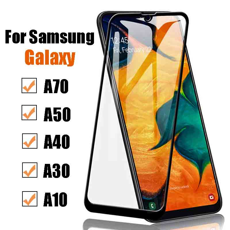 Protective glass on the for Samsung galaxy a70 a50 a40 a30 a10 screen protector armor a 70 <font><b>50</b></font> <font><b>40</b></font> 30 10 tempered film galaxi glas image
