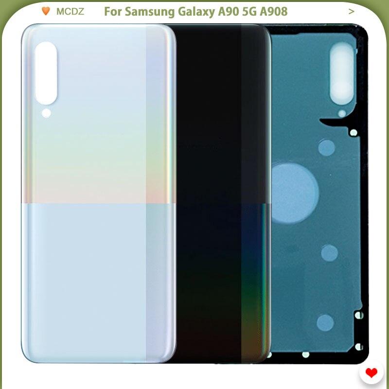 Original Battery Cover For Samsung Galaxy A90 5G A908 Back Glass Rear Door Housing Case Part