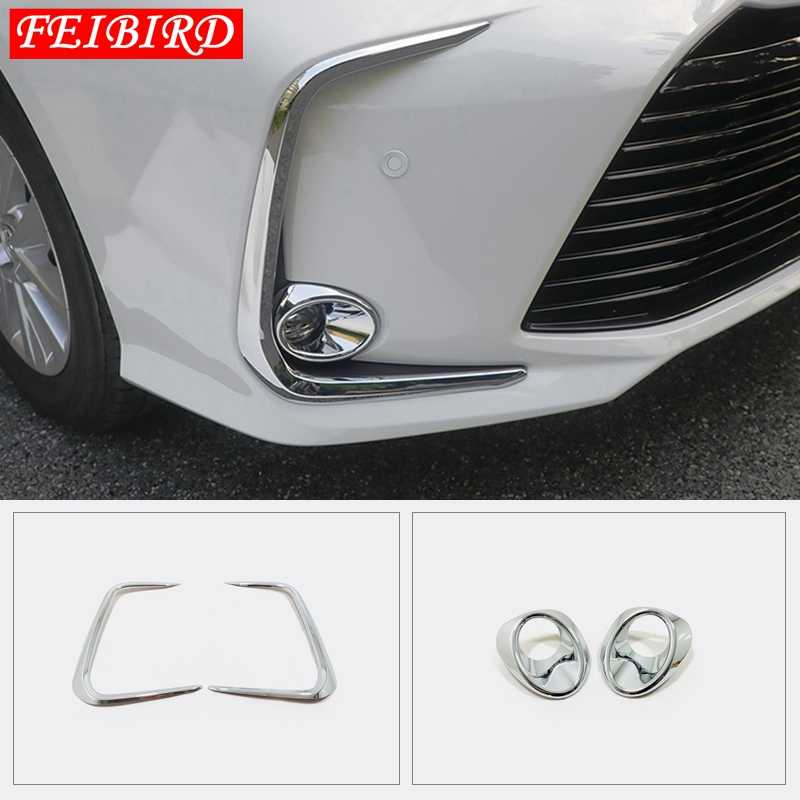 Auto Accessoire Mistlampen Foglight Lamp Ring Frame Cover Trim ABS Fit Voor Toyota Corolla 2019 2020 Helder Zilver