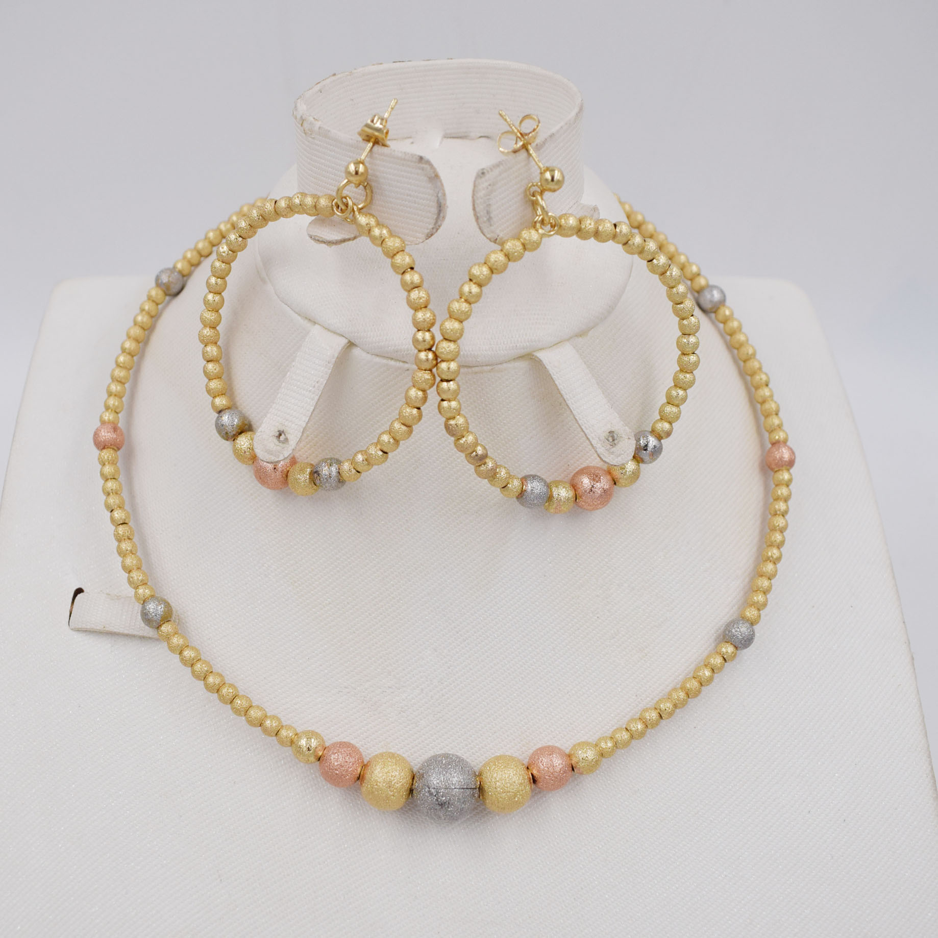 New Vintage Jewelry Sets African Bead Beads Statement Necklace Earrings Bracelet Women Wedding Party Accessories