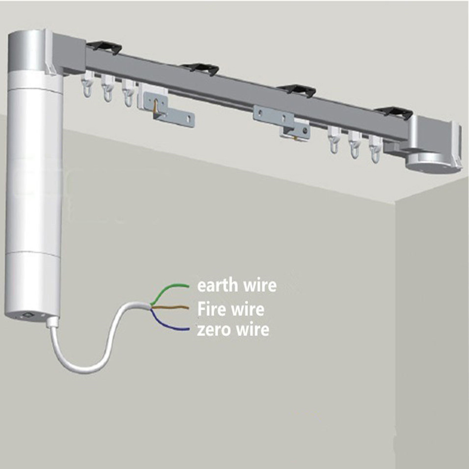 4m Dooya Super Silent Electric Curtain Track For Curtain Motor DT52E 75W DC2700 433mhz Remote,Automatic Curtain Rail System