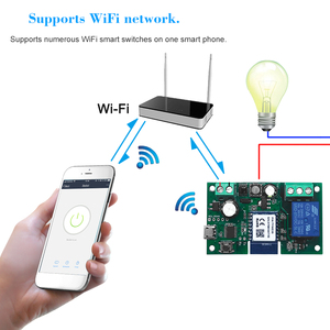 Image 5 - Tuya wi fi interruptor módulo de relé sem fio single way avançando cronometragem app controle remoto controle de voz para o google casa & amazon alexa