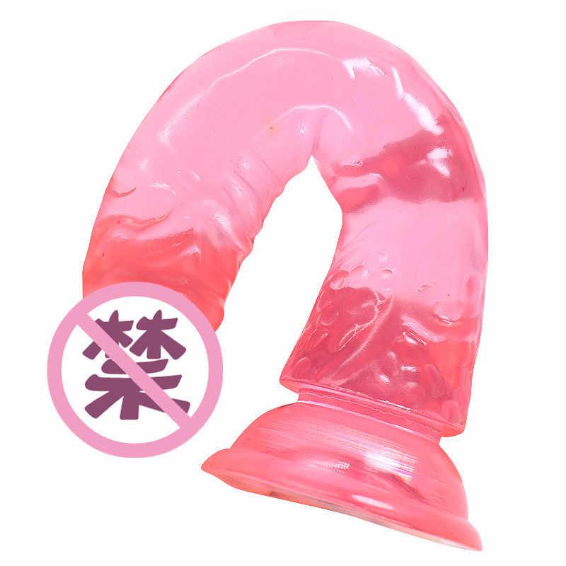 Секс-игрушки для взрослых реалистичный фаллоимитатор без Вибратор Анальная пробка ремешок на всасывание пениса чашка силиконовые точки G интимные игрушки для женщин секс-шоп
