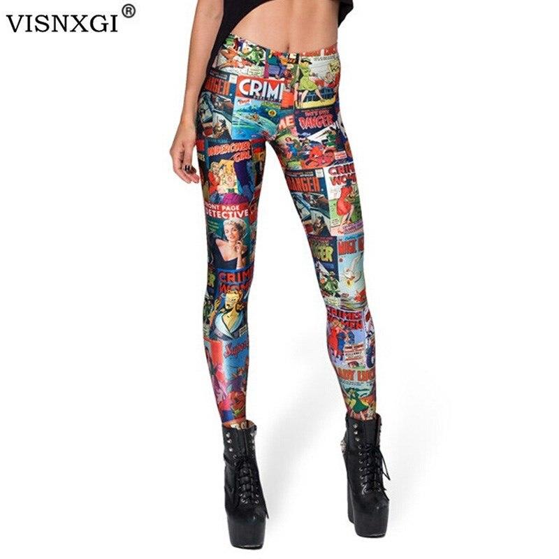 Hot Square Cartoon Funny Legins Trousers Female Leggings Sexy Leggins Modern Capris Woman Peculiar Printed Pantalones Mujer K137
