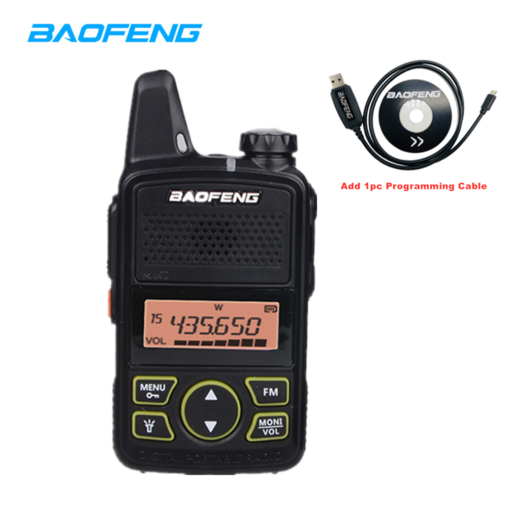 Portable Baofeng BF-T1 MINI Walkie Talkie Handheld Bft1 Two Way Radio Comunicador Ham HF Transceiver For Hotel Supermarket Radio
