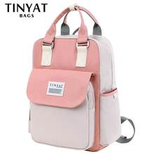 TINYAT Korean Solid women backpack for Travel mochila feminina mujer waterproof laptop school backpack bags for teenage girls(China)