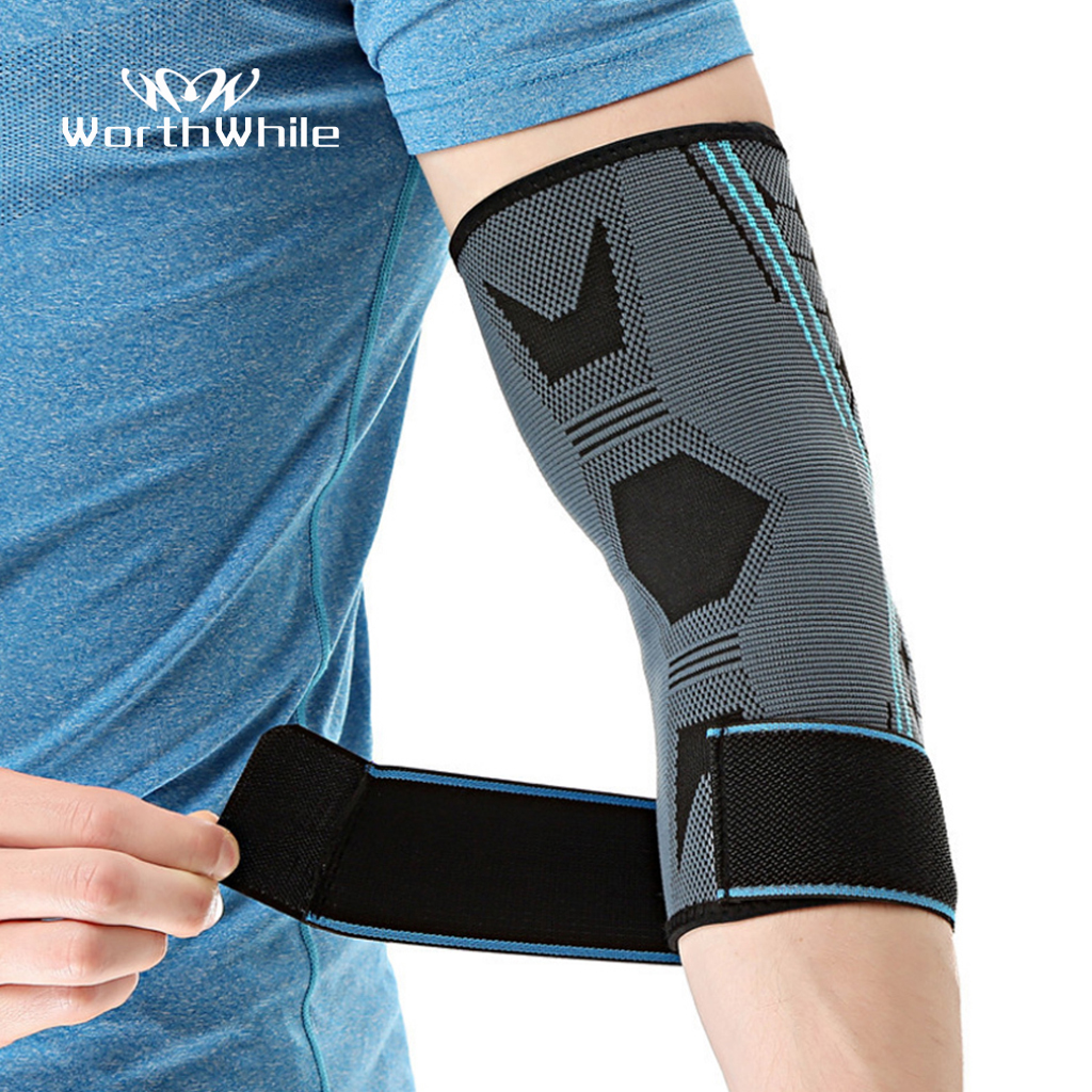 WorthWhile 1PC Sports Elbow Support Pad Pressurization Men Basketball Volleyball Fitness Gear Adjustable Elastic Brace Protector