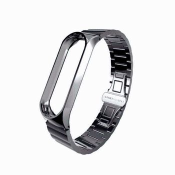 Mi Band 4 Strap Metal Stainless Steel For Xiaomi Mi Band 4 Strap Compatible Bracelet Miband 3 Wristbands Pulseira Mi band3