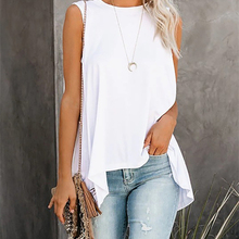 Vest Tank-Top Women Clothes Sleeveless Tee Female Summer Loose Solid O-Neck Stylish Casual