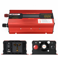 1000W Solar Power Inverter DC 12/24V to AC 110/220V Modified Sine Wave Converter with LCD Screen for Car Home Car Inverters