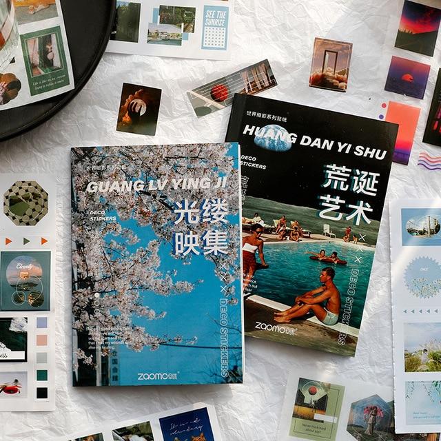 20 pcs/book World miniature series Decorative Stickers Scrapbooking Stick Label Diary Album stationery Retro Magazine Sticker