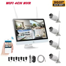 Wireless NVR 960P HD Outdoor Home Security Camera System 4CH CCTV Video Surveillance NVR Kit HDD Wifi Camera