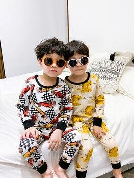 Ropa interior para niños Qiuqiu Qiu, pijamas de Otoño de dibujos animados para bebés qiu dong kuan