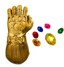 Yacn Infinity Gauntlet Glove Cosplay Props with 6 LED Magnetic Infinity Stones Custome Halloween Party yacn infinity gauntlet glove avengers infinity war cosplay for kids glove infinity led light send keychain