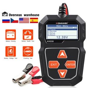 Image 2 - KONNWEI KW208 12V Tester akumulatora samochodowego cyfrowy Tester diagnostyczny motoryzacyjny analizator pojazdu rozruchu ładowania skaner narzędzia
