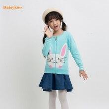 Dasiykoo Cartoon Baby Girl Sweater Winter Long Sleeve Knitted Zipper Coat Kids Autumn For Girls Christmas Y007