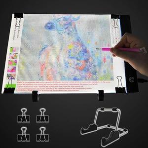 Image 1 - 다이아몬드 페인팅, usb 전원 5d 다이아몬드 자수 액세서리 라이트 보드 도구 키트에 대한 a4 led 라이트 패드