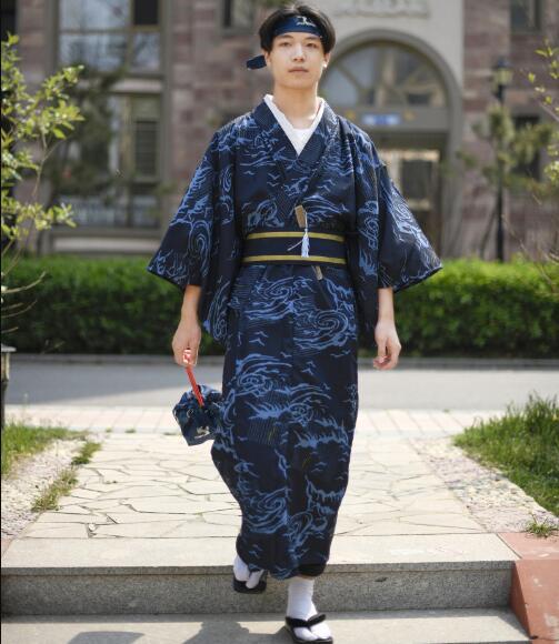 Daily Traditional Japanese Men Kimono