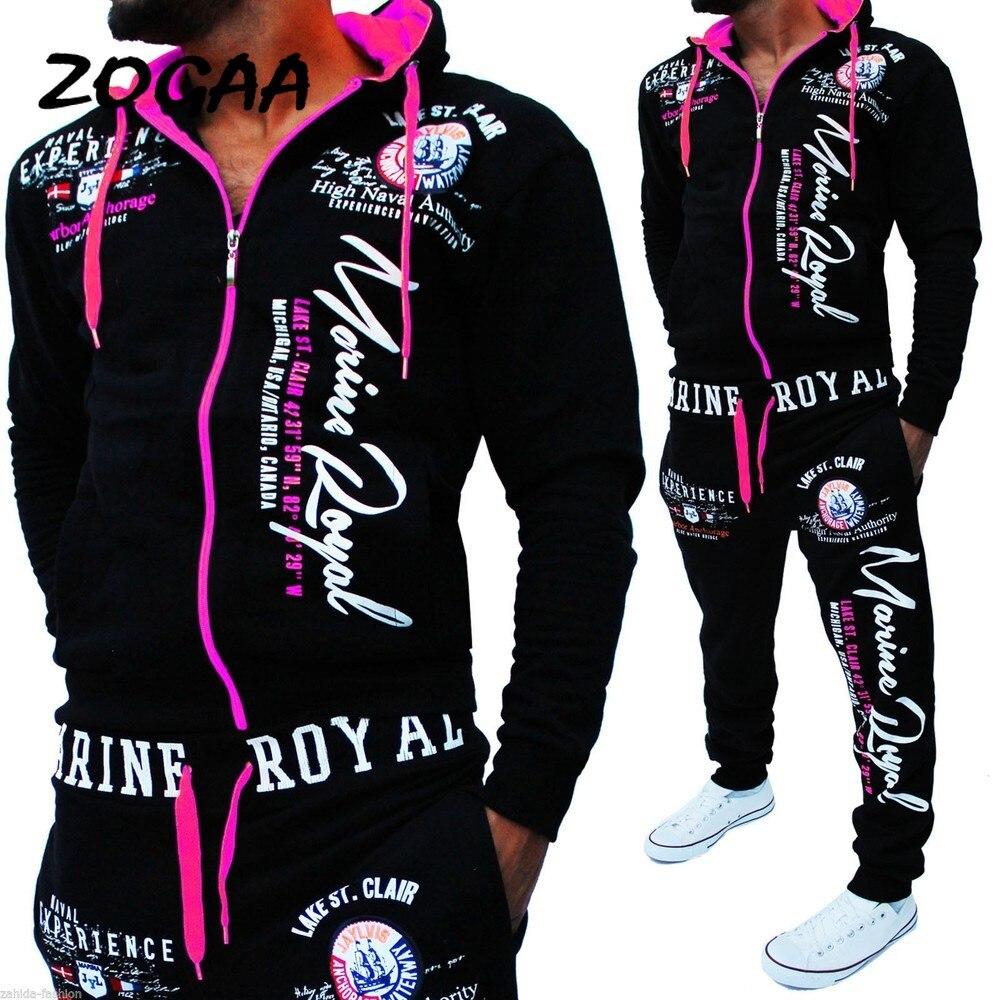 Fashion New 2019 Brand Tracksuit Fashion Men/Women Sportswear Two Piece Sets All Cotton Fleece Thick Hoodie+Pants Sporting Suit
