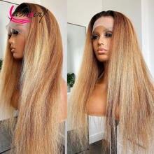Парик yaki honey блонд 13x6 фронтальные кружевные парики hd