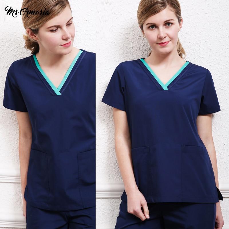 Quality Fashion Medical Suit Lab Coat Women Hospital Scrub Uniforms Set Design Slim Fit Breathable Medical Uniform Wholesale