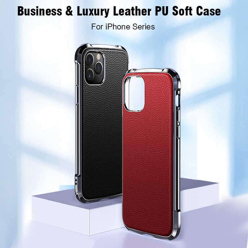 超薄型レザーケース iPhone 11 プロ Max X XR XS 最大カバーソフト Tpu ケース Iphone 5 11 プロマックス 2019