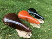 2016 retro sela da bicicleta/couro retro sela/gyes sela gs17 de bicicleta de estrada para homem|gyes saddle|bicycle saddle|leather saddle -